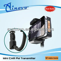 2013 new mini fm transmitter holder handsfree for iphone and opel combo car mp3 player
