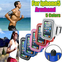 Hot selling with reflective strap Neoprene Running Sport Gym Armbands for Apple iPhone 5
