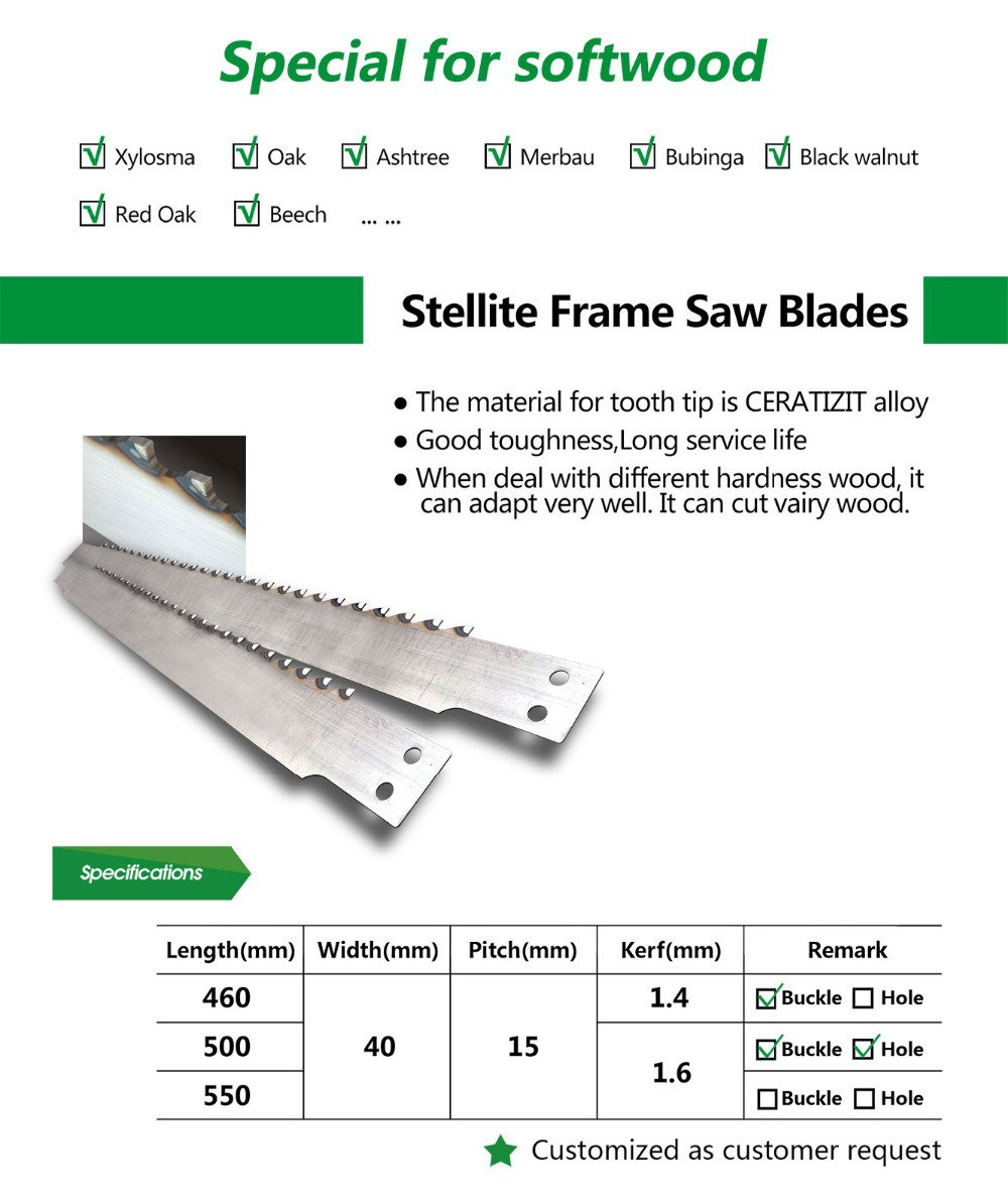 Frame Saw Blade for Wood