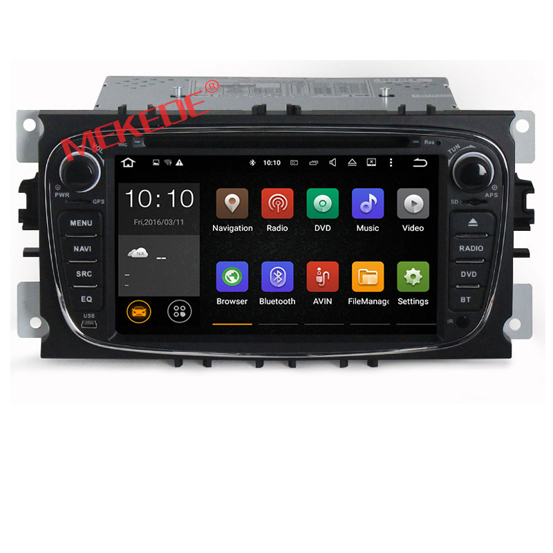 2-Din 7 Inch Car DVD Player Android 7.1 for Ford F OCUS 2008 2009 2010 S-MAX Mondeo C-MAX with DVD Radio GPS navigation WIFI 4G