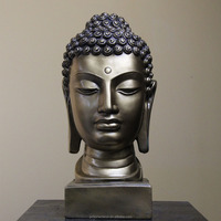 Chinese Fengshui Hand Carved Stone Buddha Head Statues