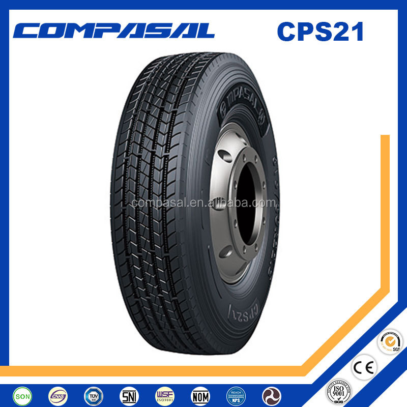 11R22.5 385/65R22.5 Compasal High Quality Front/Steer/Trailer/All-position Tyre for Truck