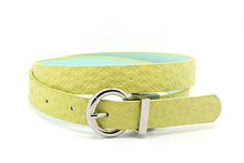 YJ-A1441 reversible buckle belt girl chastity belt italy belt