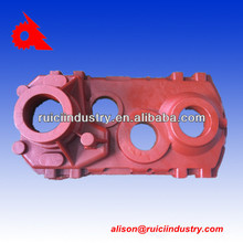 Iron sand casting custom gearbox with red painting made in China