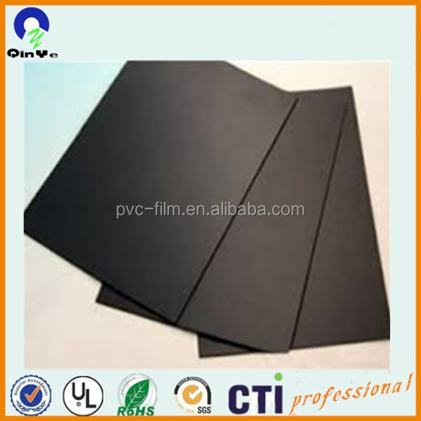 Matt matt high quality 4mm PVC rigid sheet black