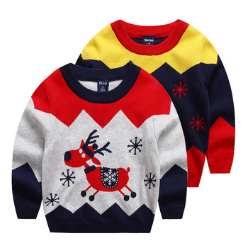 B40694A 2017 Autumn kids clothing boy Christmas deer sweaters