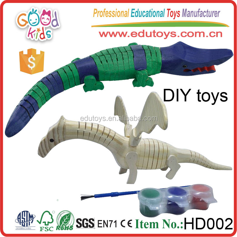 Newest Design Kids Lovely Game Educational DIY Wooden Animal Toy for Wholesale