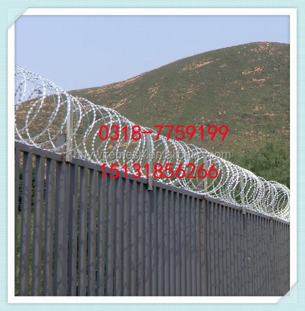 export to Japan SUS304 razor wire ISO factory produce concertina razor wire