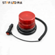 Rotating solar flashing light 12v red led flashing beacon warning light truck flashing light