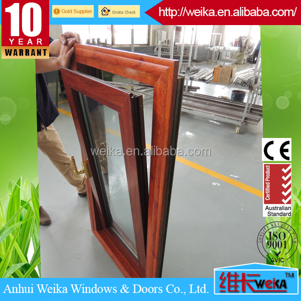 Philippine latest design alluminium powder coated tilt and turn window with Chugn hardware