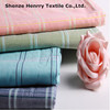 100% cotton yarn dyed woven check plaid shirt fabric