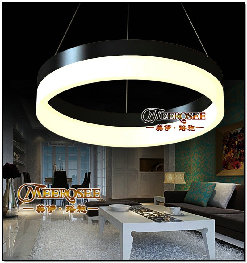 Black Led Aluminum Pendant light <strong>Modern</strong> Led Hanging lighting MD5060-1R