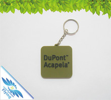 soft and personalize name pvc keychain/ silicone key chain with metal key ring