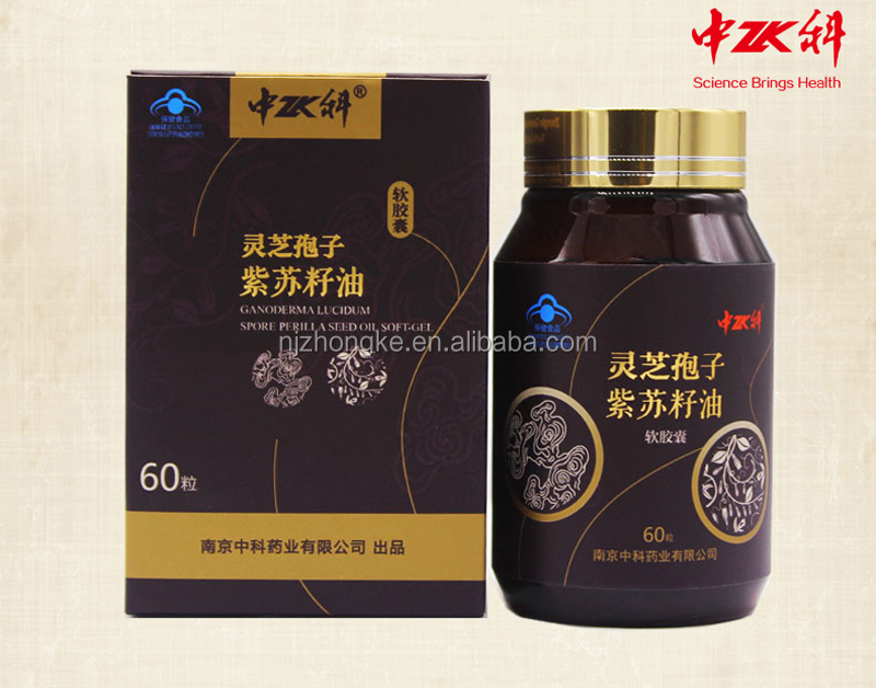 New Arrival Private Label Reishi Mushroom Extract and Basil Seeds Oil Softgel Omega-3 Liver Pills
