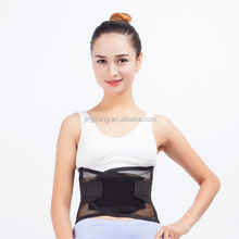 Elastic sports body wrap breathable lumbar lower back support brace