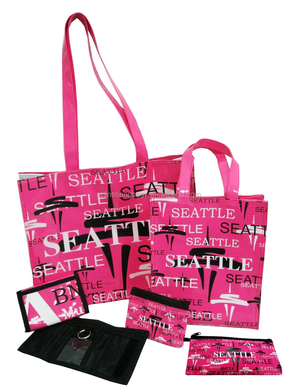 PVC Seattle souvenir handbag and wallet sets