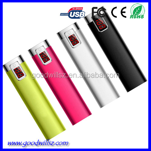 Shenzhen Factory supply 2600mAh powerbank charger/emergency mobile charger big promotion for Christmas Day