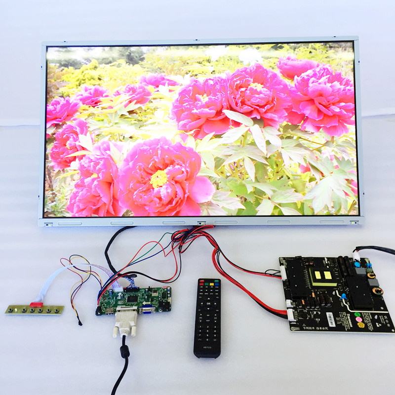 "China factory produced LD320EUN 32"" LCD panel with vga lvds converter/1920x1080 lvds controller board sets and cables"