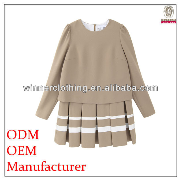 Girls trendy fashion garment factory fancy design juniors formal dress