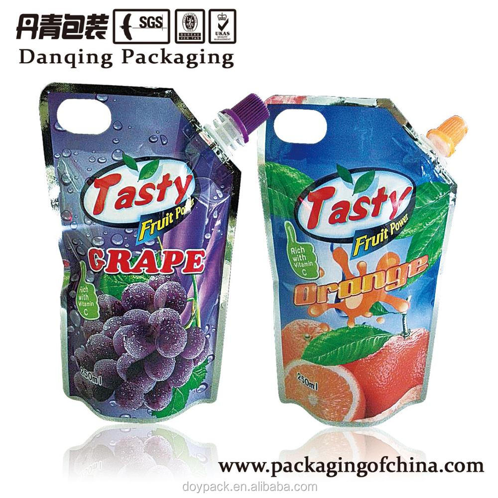 Stand Up Pouch with Spout liquid/drink pouch food pouch Plastic bags D0023