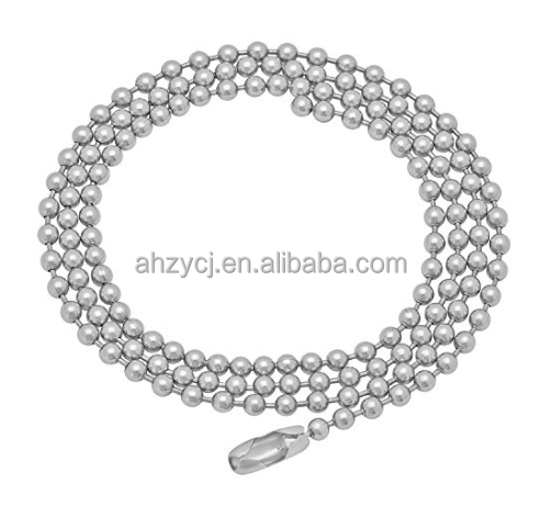 2017 Wholesale Stainless Steel Ball Chain High Quality Bead Chain Wholesale Bubble Chain for Jewelry Findings