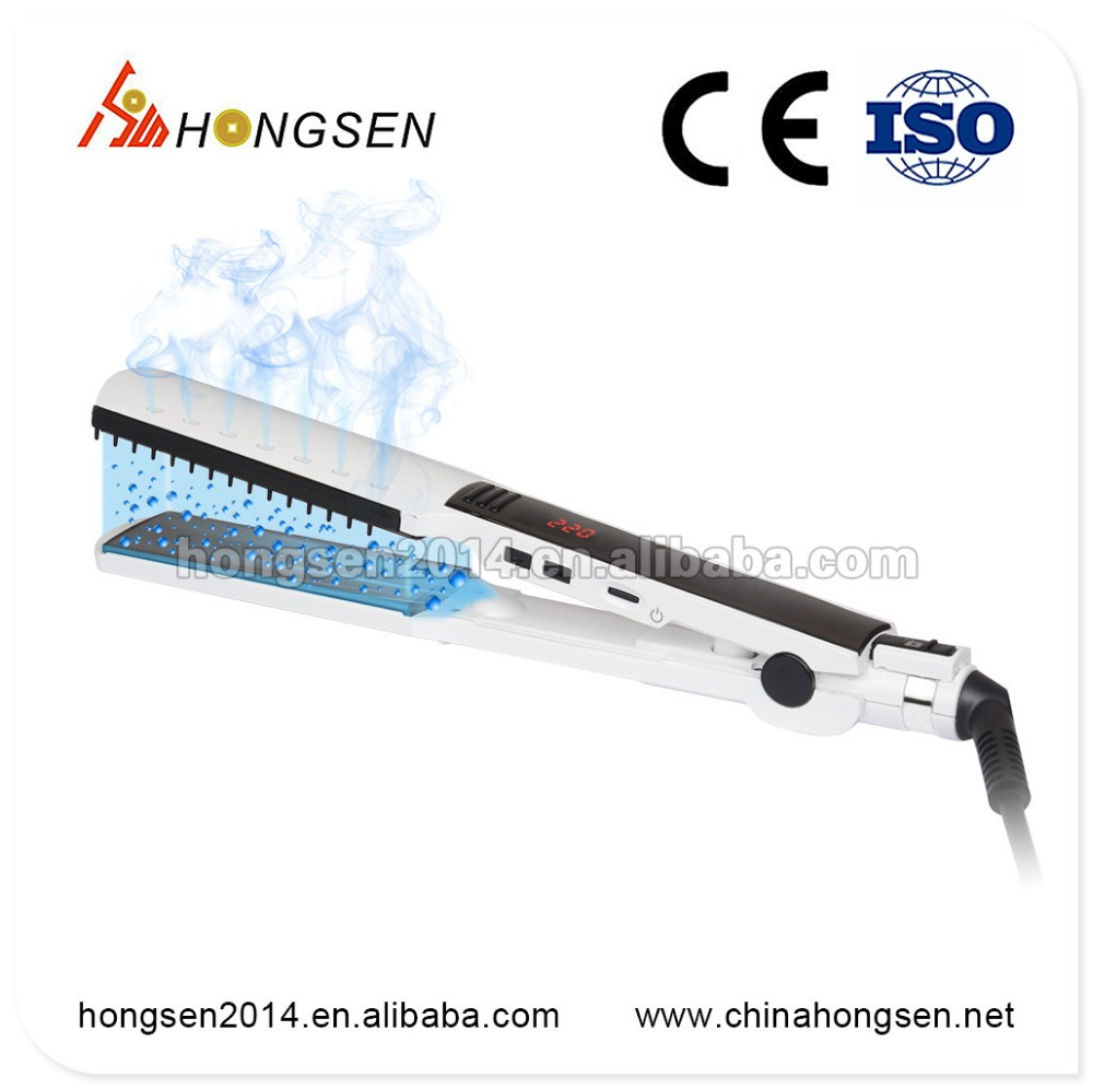 Salon Styling stations of Pro 1.5 inch nano titanium plate wet to dry thin straightening iron
