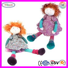 A821 Soft Rag Air Girl Doll Stuffed Plush Fairy Furry Hair Air Doll