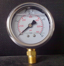 Semi - steel oil pressure gauge/Stainless steel shell pressure gauge/Outside steel table