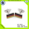 Manufacture Germany flag cufflink metal souvenir metal enamel custom cufflinks