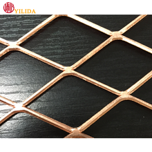 Factory Luxurious decorative copper expanded metal mesh,expanded panel,expanded lath