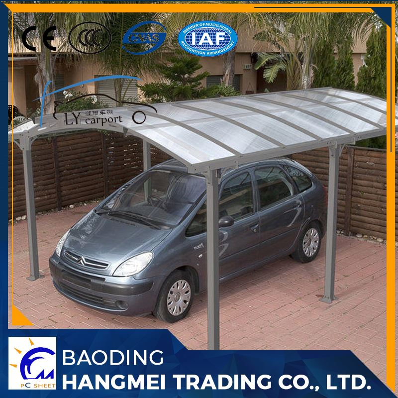 Outdoor waterproof foldable begreen aluminum frame and polycarbonate blue solid sheet canopy carport with high quality