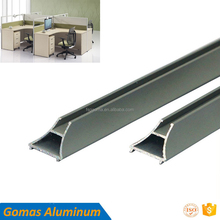 Foshan factory 300kg low moq office partition aluminum profiles black white color powder coating