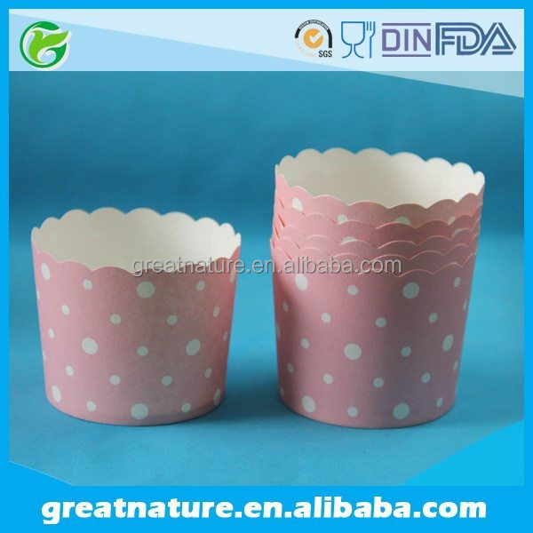 Polka Dots Pink Cupcake Cups, Baking Cups, Muffin Cups