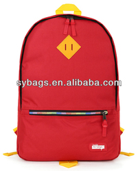Custom fashion cheap canvas backpack for girls