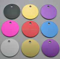 Colorfule Customized Aluminum material Round shaped metal tags