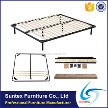 Top Sale High Quality Metal Frame Strong And Cheap KD Slatted Bed Frame