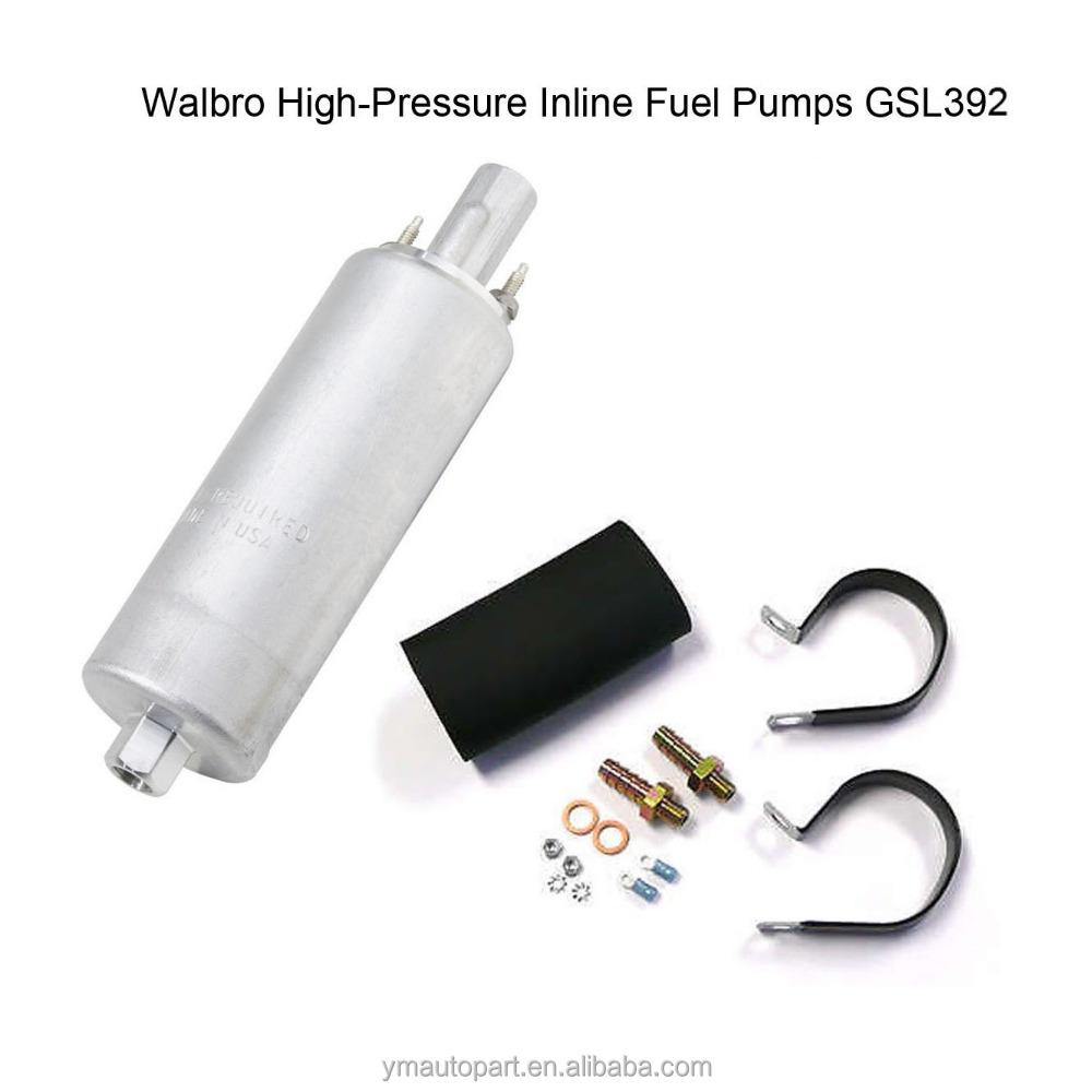 Walbro Universal 255 LPH Inline High Pressure Fuel Pump External GSL392 w// Kit