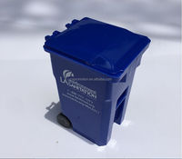 Plastic mini desktop wheelie bin recycle bin pen holder toy