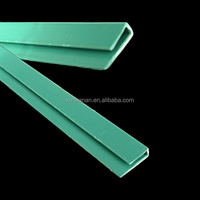 Typed dark green colored PVC kitchen cabinet shelf edge strip