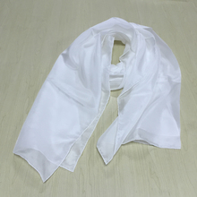 wholesale plain white/blank silk scarves for dying