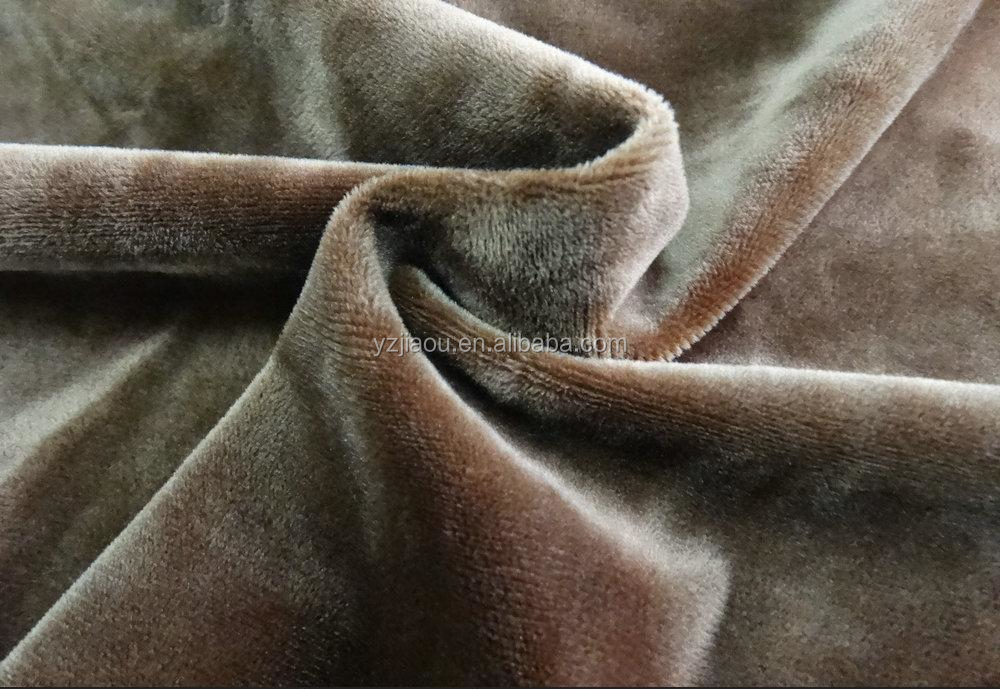 HOT SALE Free Samlpe MOQ 10meters Polyester high quality1.5 5 Super Soft velour fleece fabric for soft toys,shoes lining spot