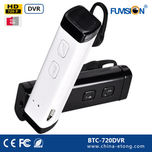 Hd Bluetooth Headset Spy Hidden Video Camera Audio Recorder Camcorder Cam