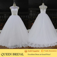 Real Pictures of Latest Gowns Designs Crystals Neck Wedding Gowns Alibaba Wedding Dress 2016