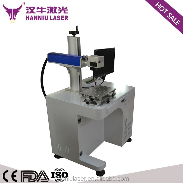 20W fiber laser color laser marking machine for colorful marking on stainless steel and black marking on ML-20