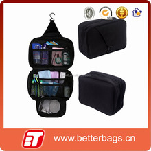 Personal Black Travel Shower Organizer Hanging Toiletry Wash Bag Bathroom Tote bag
