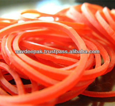 Red Colour Elastic Clear Rubber Bands Thailand