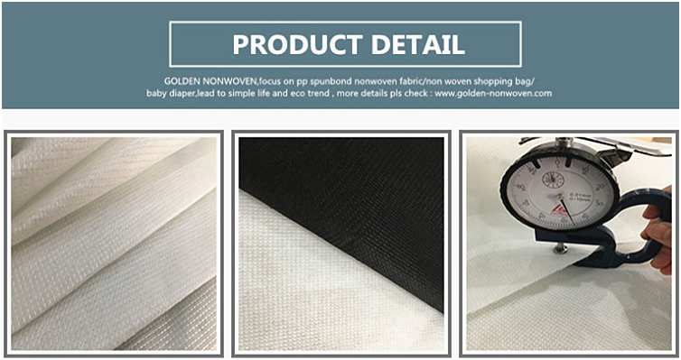 Factory Direct Sale Polyester Stitch Bonded Shoe Reinforcing Lining Fabric