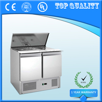 Commercial Fridge Counter,Refrigerated Saladette Pizza Prep Counter