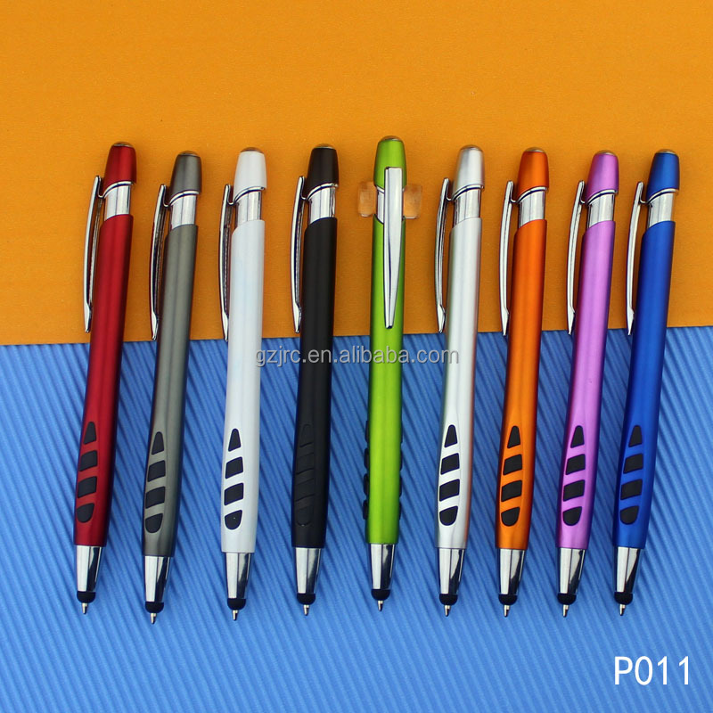 High End Sport Plastic Pen with Logo, Cheap Pen with stylus