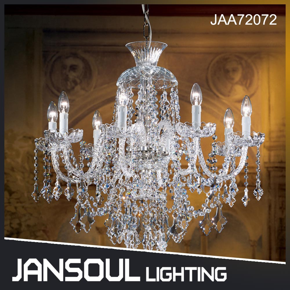 Wholesale French Golden Chandelier Dressed High Quality Pendant Lights Glass Crystal chandelier for hotel decoration